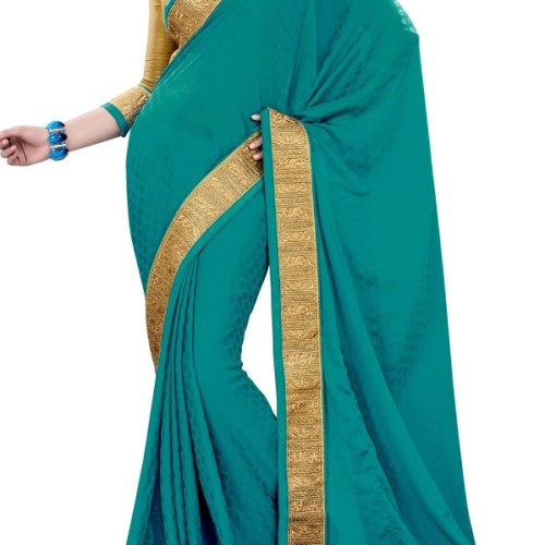 Saree golden green mix charm party saree