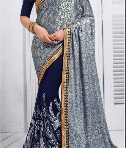 Saree lovely chiffin and net designer saree
