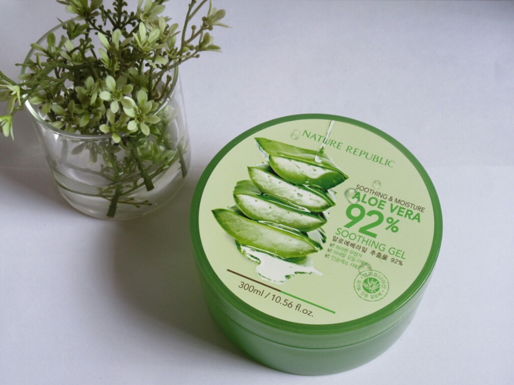 Soothing Moisture Aloe Vera 300ml Nature Republic Jar Gel 300 Ml