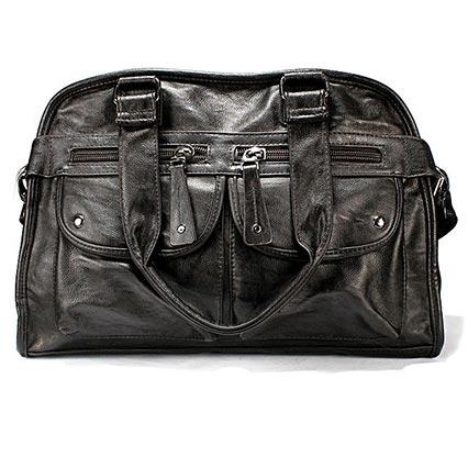 Dark Brown Side Bag Men