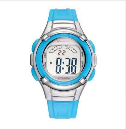baby blue digital watch