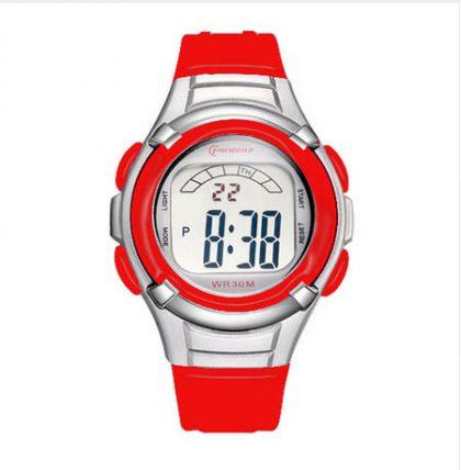 Kids red digital watch