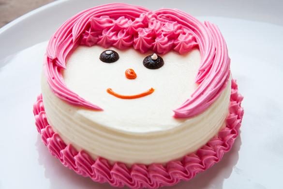 Children Cake Cute Face Design
