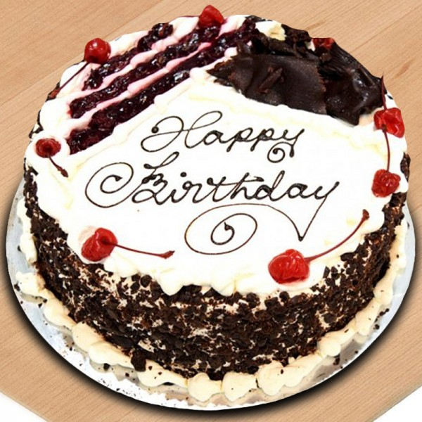 Black Forest Fancy Birthday Cake Kapadaa
