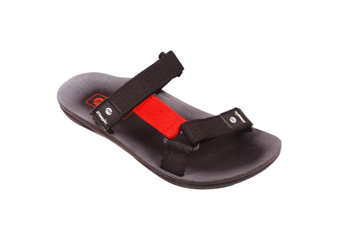 e6b69a1de85 Magic Men Sandal - Black   Red - KAPADAA.COM