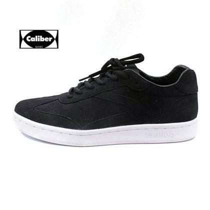 Caliber Men Casual Lace Up Sneaker - Black