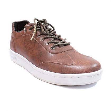 Caliber Men Casual Lace Up Sneaker - Brown