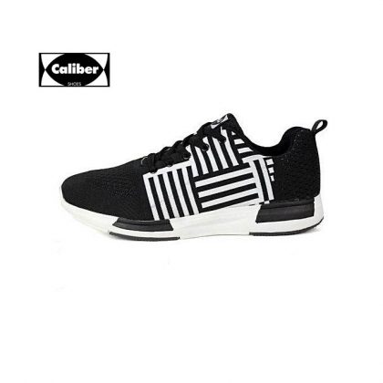 Caliber Men Sport Shoes - Black & White