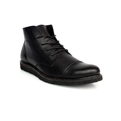 Caliber Men Lace Up Ankle Boots - Black