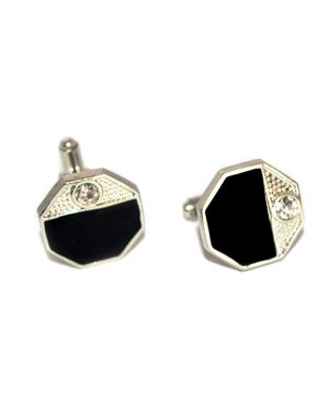 luxury hexagonal cufflinks
