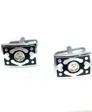 Luxury Rectangular Abstract Design Cufflinks