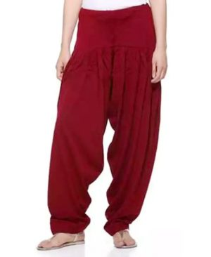 Red woolen Punjabi salwar for women