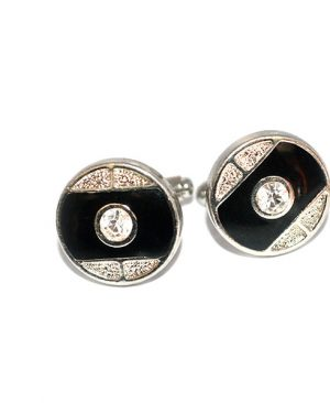 luxury circular design cufflinks