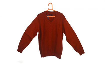 Knitted Design Red Sweater