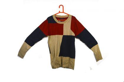 colored-blocked multicolored sweater