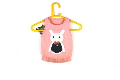 Pink Sleeveless Sweater