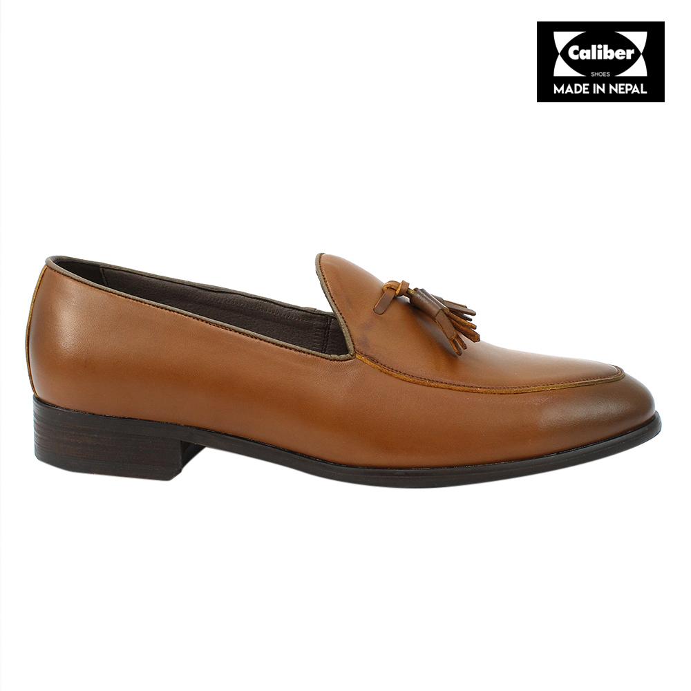dd8af4e5a6d Kapadaa Caliber Shoes Tan Brown Slip On Formal Shoes For Men P Kapadaa  Caliber Shoes Tan Brown Slip On Formal Source · Buy Bacca Bucci Faux  Leather Textured ...