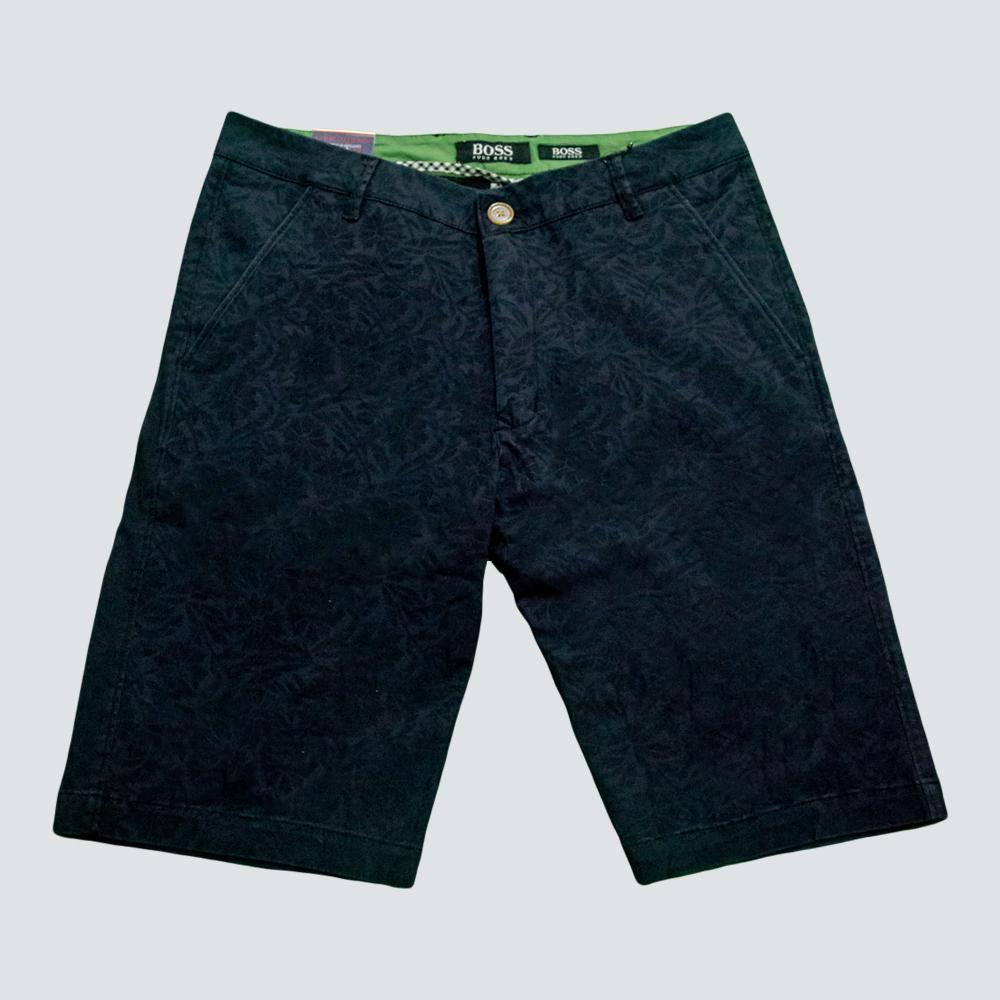 309bcbb9 Kapadaa: Boss Navy Blue Flower Design Regular Fit Shorts - KAPADAA.COM