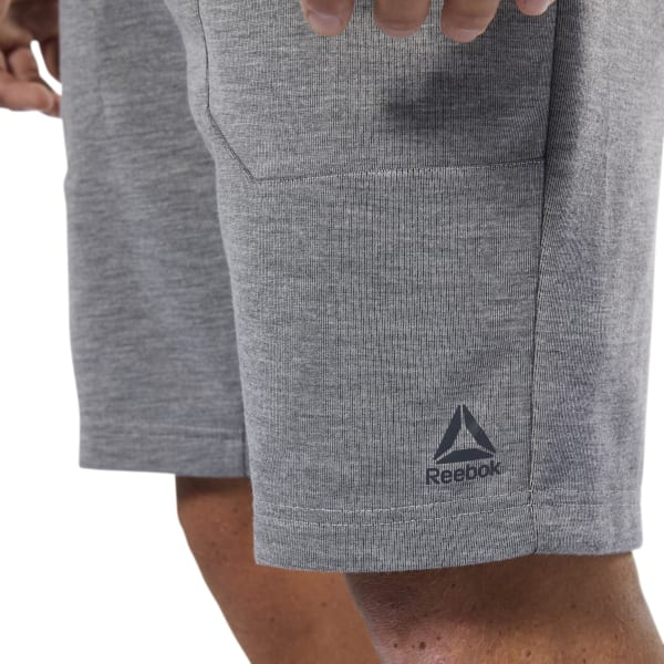 39d69af60d Kapadaa: Reebok Grey Wor Melange Double-knit Shorts For Men - DP6153