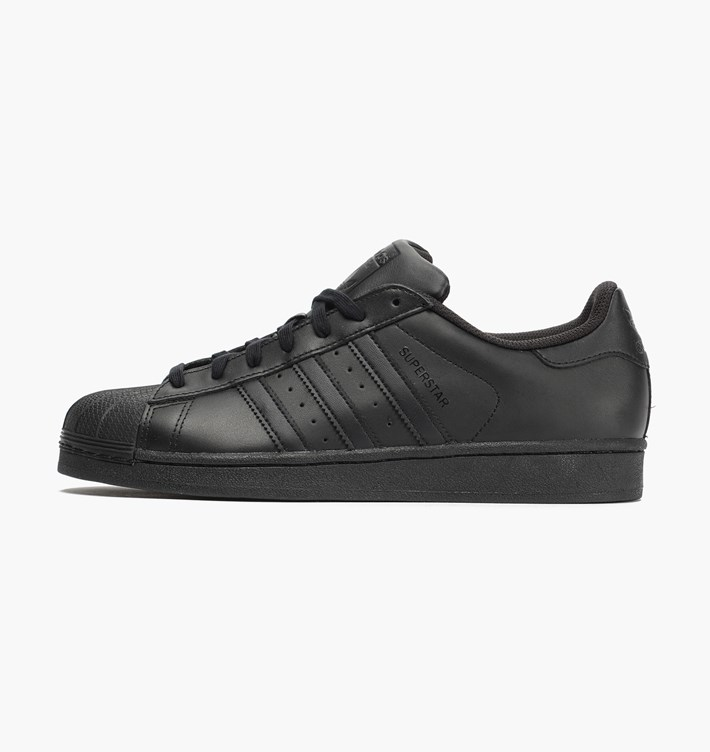 factory price a3a65 1ed83 Kapadaa  Adidas Black Superstar Foundation Sneaker Shoes For Men ...