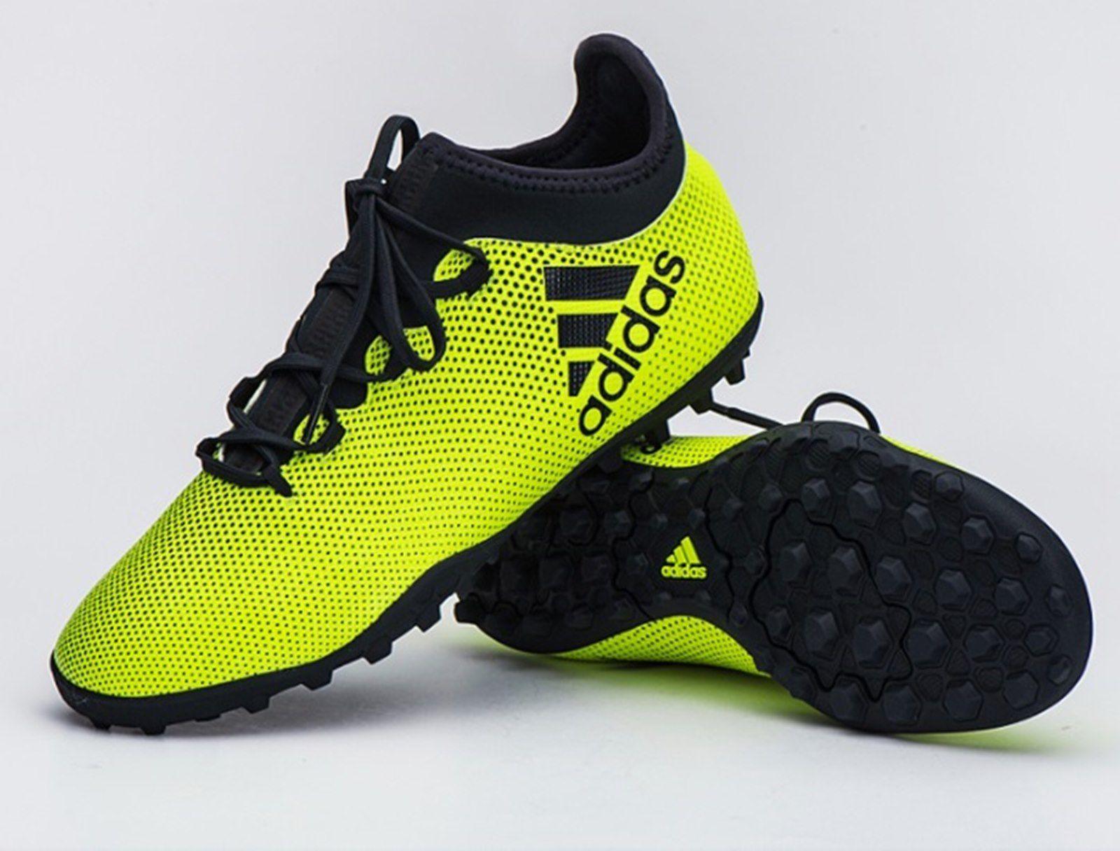 best website f98e6 67ea6 Kapada: Adidas Green X Tango 17.3 Turf Football Shoes For Men - CG3727